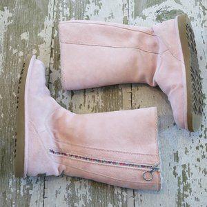 UGG HAYDEN Mist Pink Tall Leather Boots US 4 EU 34